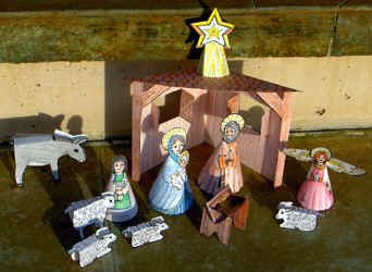 Printable Nativity Papercraft