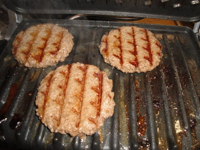Burgers on George Foreman grill