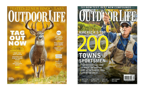 Copies of Outdoor Life magazine you can grab for free with this offer.