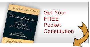 Get a free pocket Constitution
