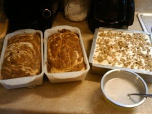 Pumpkin bread and other fall flavored desserts.