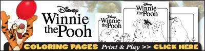 Free Winnie the Pooh coloring pages.