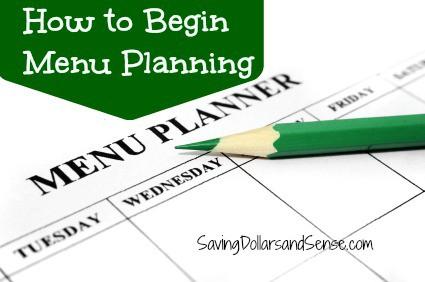 Begin Menu Planning