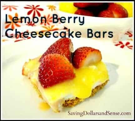 Lemon Berry Cheesecake Bars Recipe