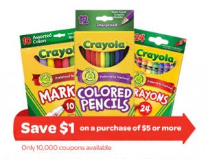 HOT Crayola Printable Coupon & Deals!