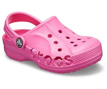 Girls pink Crocs for sale.