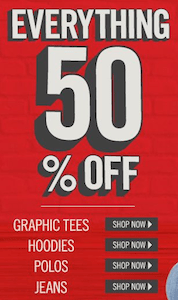 Aeropostale 50% Off Everything Plus FREE Shipping!