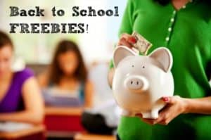 Back To School Freebies!