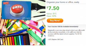 HOT Get A $15 Staples Gift Card Only $7.50!