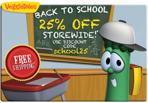 VeggieTales 25% Off Back To School Sale & FREE Shipping!
