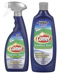 FREE Comet Stainless Steel Cleaner