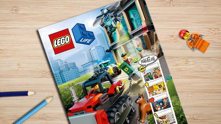 Free LEGO Life magazine subscription for children.