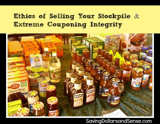 Ethics Of Selling Your Stockpile