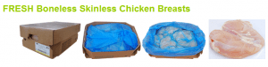 Fresh Bone/Skinless Chicken Breast About $1.69 lb