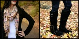 Tori Suede Boots & Matching Scarf Only $31.91 Shipped!