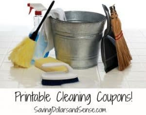 Printable Cleaning Coupons!