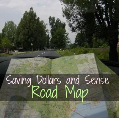 Saving Dollars and Sense road map.