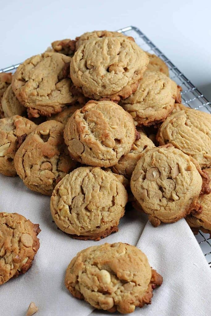 Peanut butter cookies with peanut butter chips.