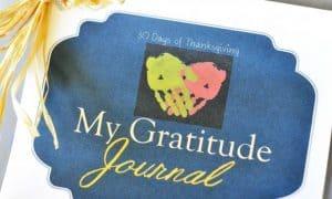 Free Kids 30 Day Gratitude Journal
