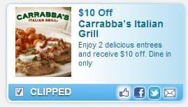 Carrabbas Italian Grill $10 Coupon!
