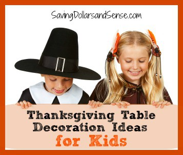 Thanksgiving Kids Table decoration ideas for kids.