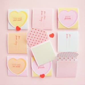 Printable Conversation Hearts Valentines!