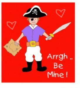 FREE Pirate Valentine's Day Cards!