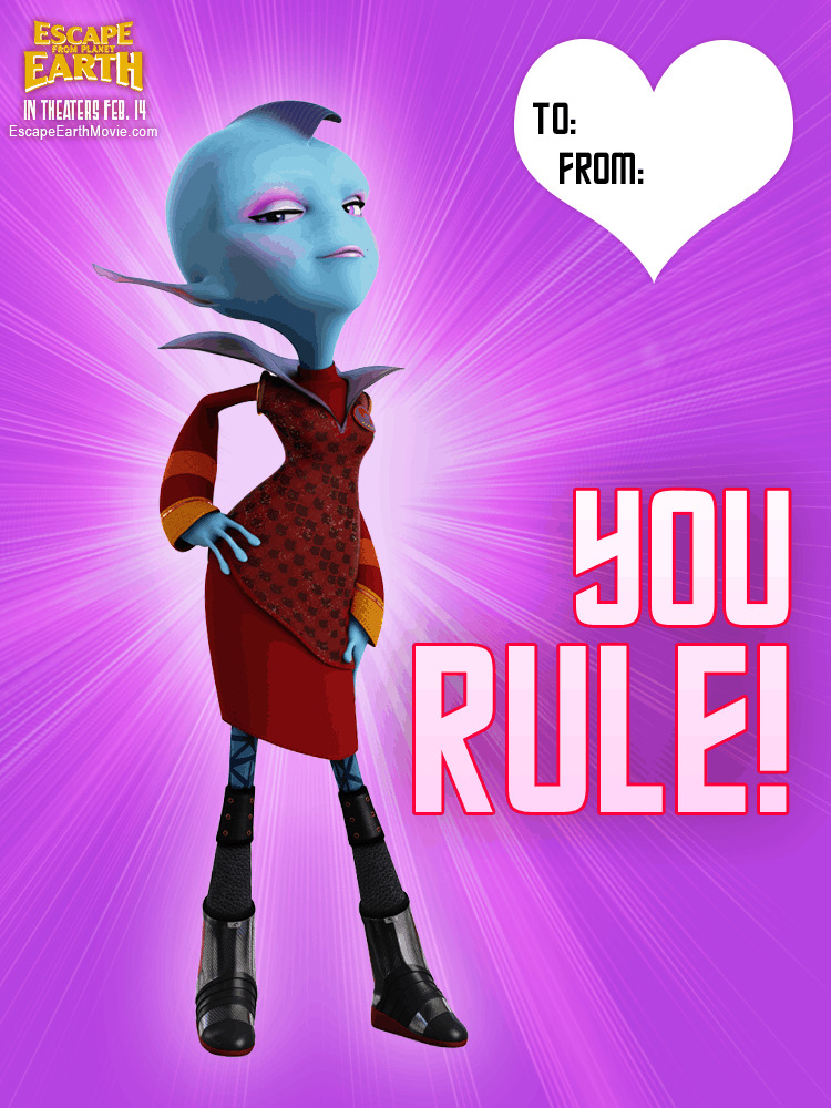 Escape From Planet Earth FREE Valentine\'s Day Cards!