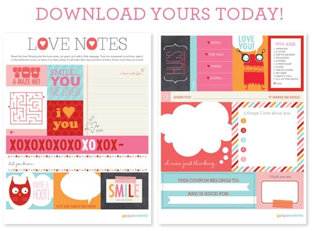 Free Printable Love Notes Saving Dollars Amp Sense