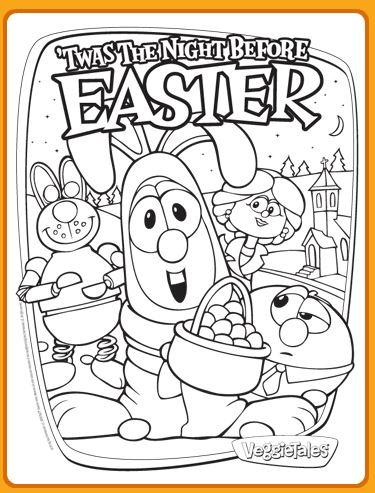 VeggieTales Easter Coloring Page FREE Saving Dollars