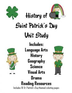 FREE St. Patrick's Day Unit Study!