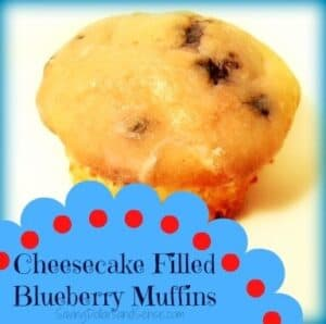 Cheesecake Filled Blueberry Muffins Recipe