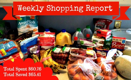 Weekly Shopping Report