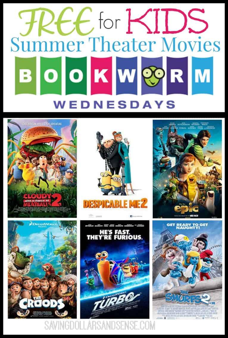 Bookworm Wednesday FREE Kids Summer Movies! - Saving ...