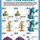 Monsters University FREE Activity Sheets!