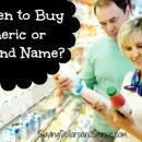 A couple grocery shopping. When to Buy Generic or Brand Name.