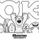 Free Monsters University Printable Coloring Page