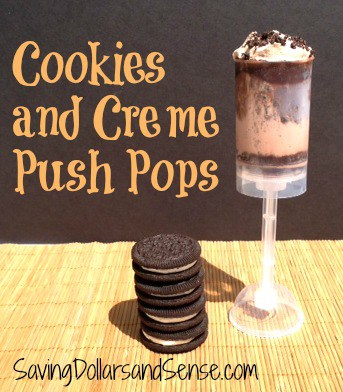 Cookies and Creme Push Pops
