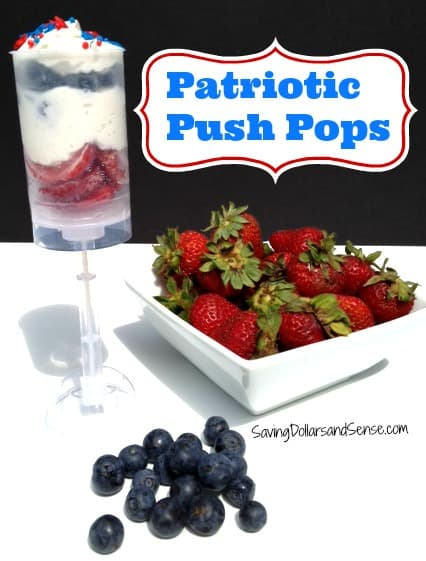Patriotic Push Pops
