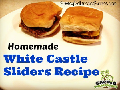 Homemade White Castle Sliders