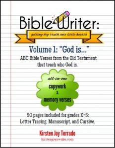 FREE Bible Writer Memory and Copywork Curriculum