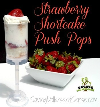 strawberry shortcake push pops