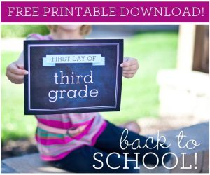 FREE Back to School Printable