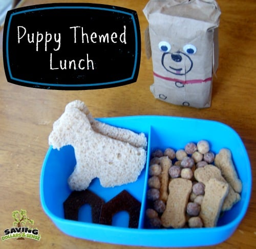 puppy themed lunch