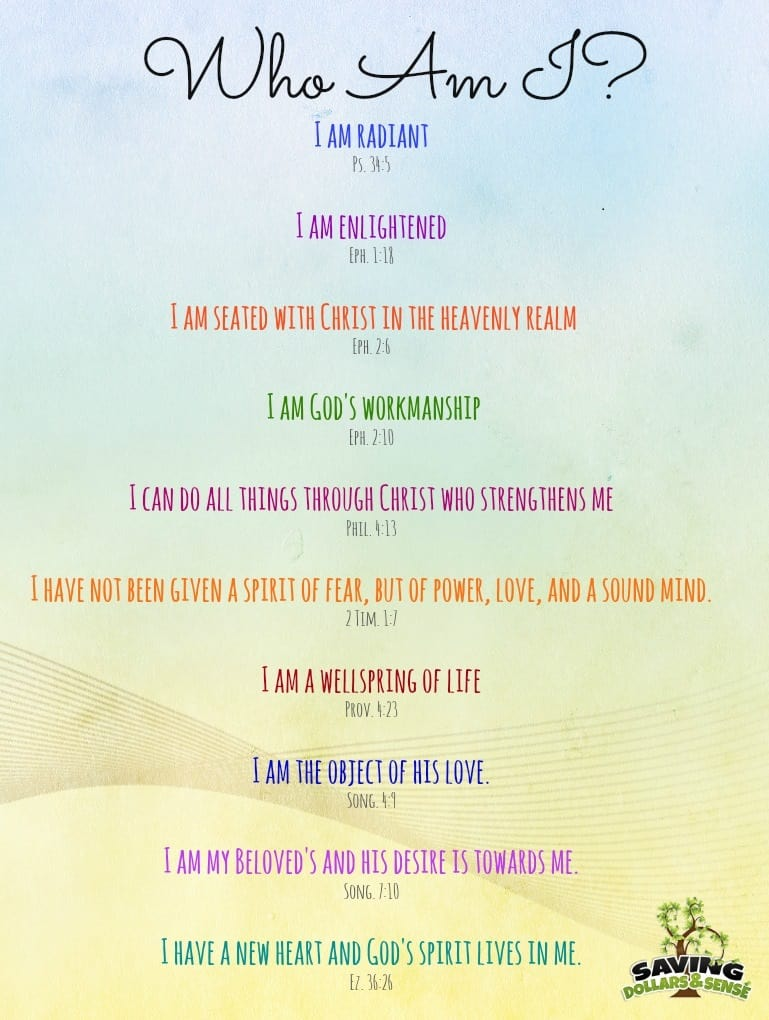 Printable who am i in christ quotes