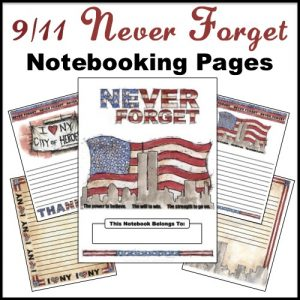 FREE 9-11 Patriot Notebooking Pages