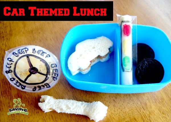 car themed lunch
