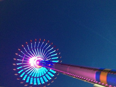 A tall building in Cedar Point.