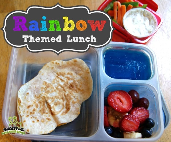 rainbow themed lunch