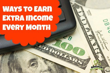 A pile of money. Ways to earn an extra income every month.